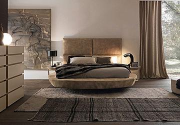Schlafzimmer bett boxspringbett - Letto circolare ...